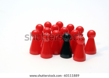 people - abstract - stock photo