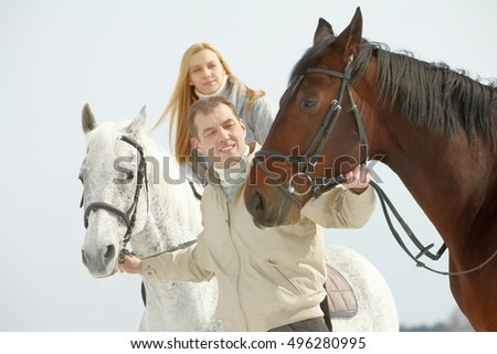 People and horses