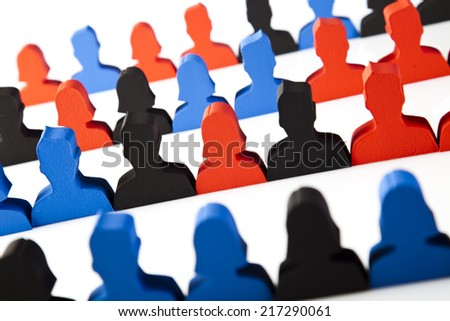 People and icons, Social group - stock photo