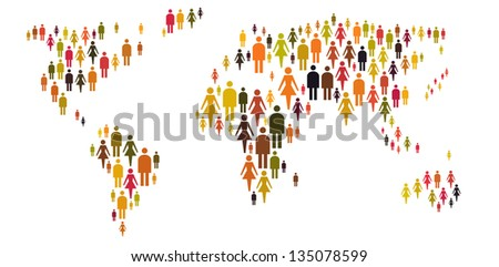 People around the world - stock photo