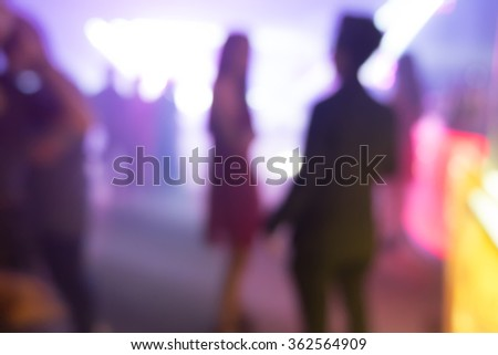 people at a concert - stock photo