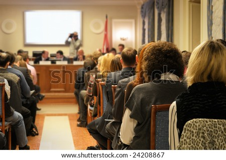 People at conference. - stock photo