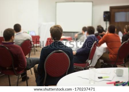 people at seminar - stock photo