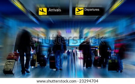 people at the airport - stock photo