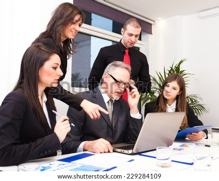 People at work during a business meeting - stock photo