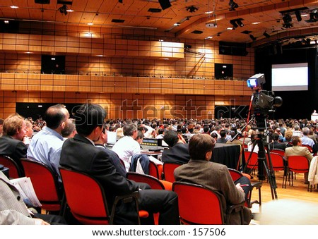 People attending a Congress - stock photo