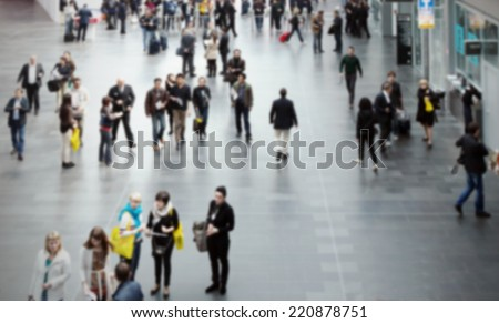 People background. Intentionally blurred background. - stock photo