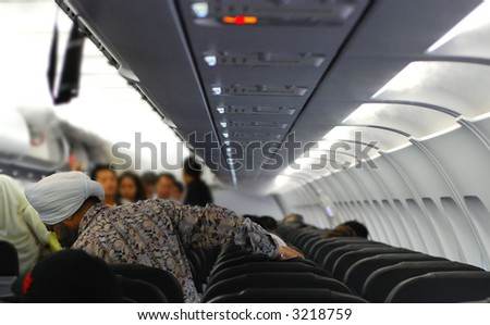people boarding aircraft