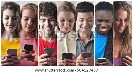 people chatting with smart phone