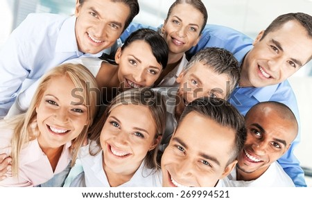 People. Close-up of cheerful friends - stock photo