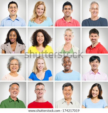 People collection - stock photo