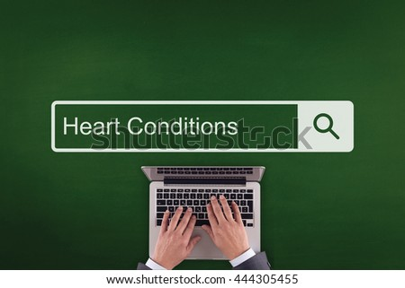 PEOPLE COMMUNICATION HEALTHCARE  HEART CONDITIONS TECHNOLOGY SEARCHING CONCEPT - stock photo
