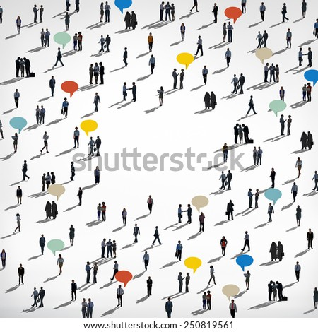 People Community Diversity Concept - stock photo