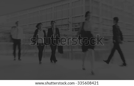 People commuting City Life Busy Pedestrian Concept - stock photo