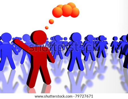 People concept of union and leadership - stock photo
