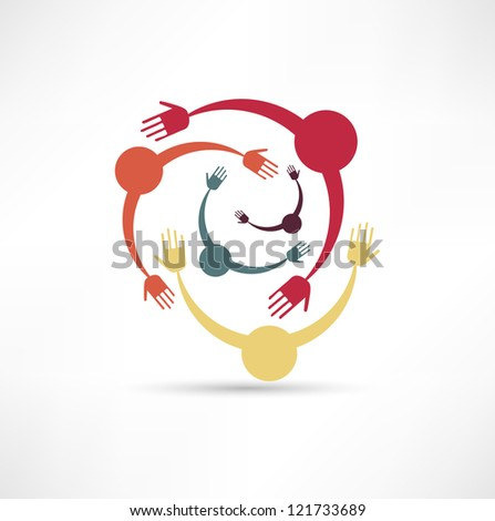 People Connected Symbol - stock photo