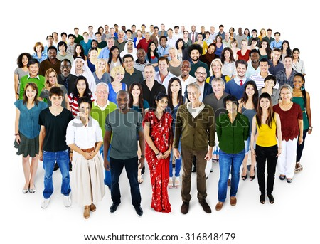 People Diversity Ethnicity Crowd Society Group - stock photo