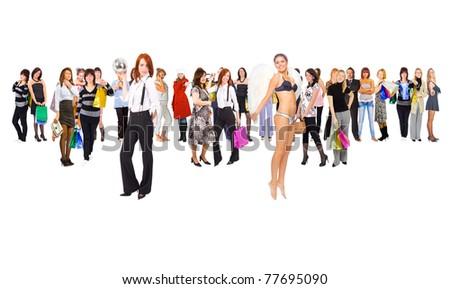 People Diversity Isolated - stock photo