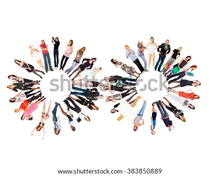 People Diversity Standing Together  - stock photo