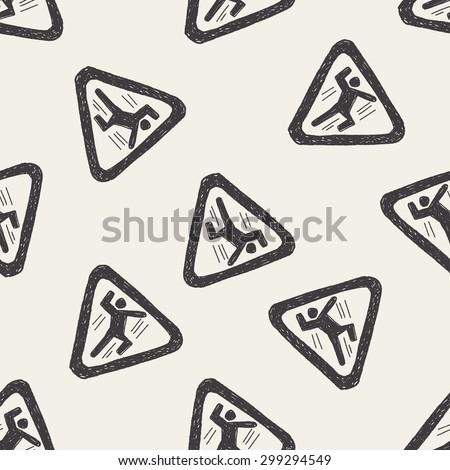 people fall sign doodle seamless pattern background - stock photo