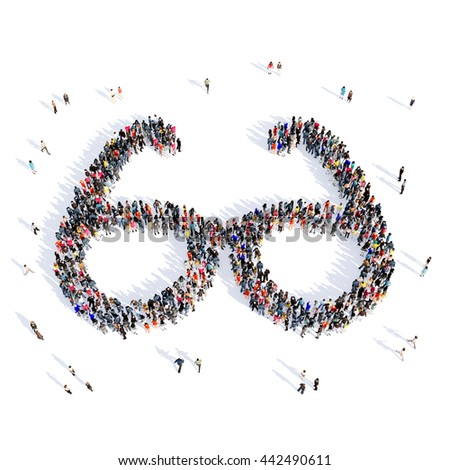people glasses medical 3d - stock photo