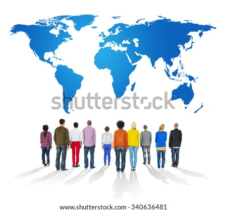 People Global Connection Diversity Multinational International World Concept