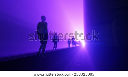 people go to the light - stock photo