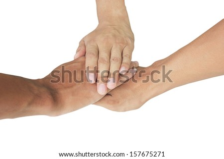 people group connecting hands