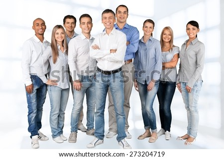 People, Group Of People, Business. - stock photo