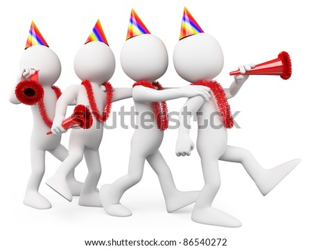 People having fun at a party - stock photo