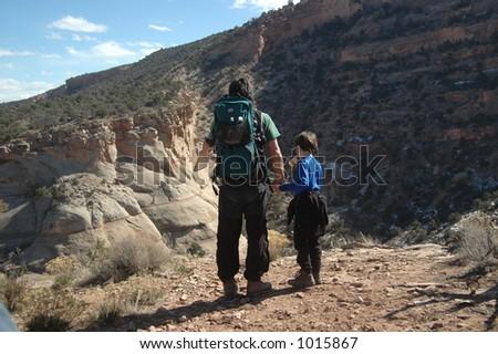 people hiking - stock photo