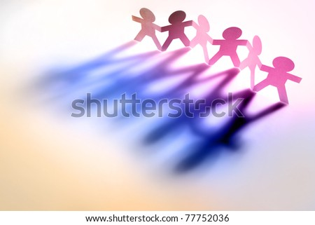 People holding hands - stock photo