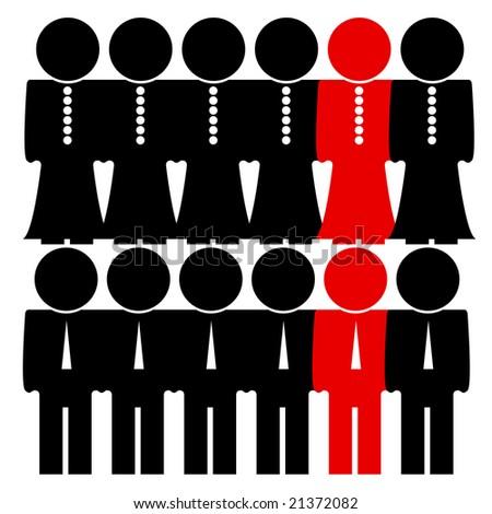 people icon. - stock photo