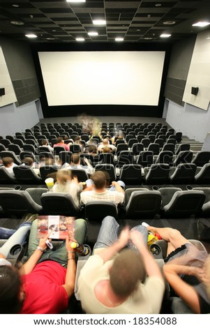 People in a Cinema Hall - stock photo