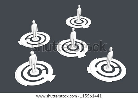People in a social network. 3D rendered Illustration. - stock photo