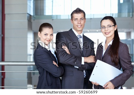 People in business suits in the office