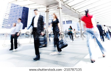 People in Hong Kong . - stock photo