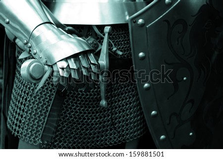 People in Middle ages ( close up ) - green tone - stock photo