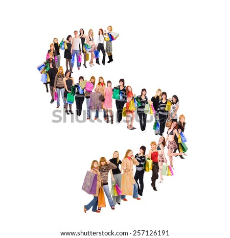 People in Queue Concept Image  - stock photo