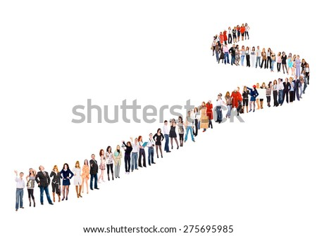 People in Queue Corporate Culture  - stock photo