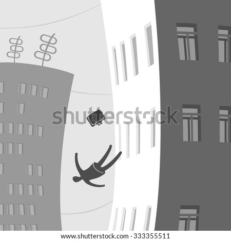 People in the city falls - stock photo