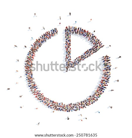 people in the form of interest. - stock photo