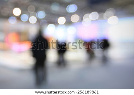 People. Intentionally blurred editing post production. Humans, location and products not recognizable. - stock photo