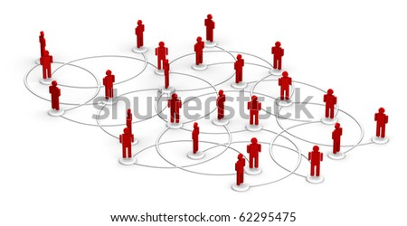 People linked to a network. - stock photo