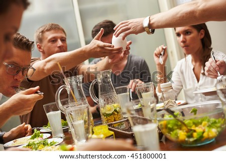 People making food in home and restaurant kitchen - stock photo