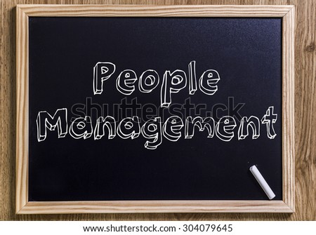 People Management - New chalkboard with 3D outlined text - on wood