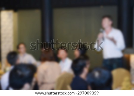 People meeting abstract blur background  - stock photo