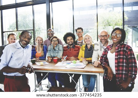 People Meeting Communication Corporate Teamwork Growth Concept - stock photo