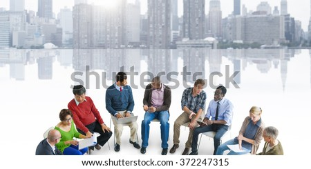 People Meeting Communication Talking Counselor Concept