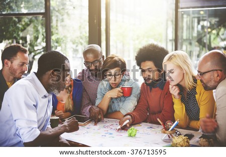 People Meeting Social Communication Connection Teamwork Concept - stock photo